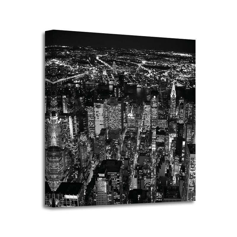 Cameron Davidson - Night areal view of midtown Manhattan