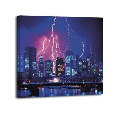 Eberhard Streichan - Lightning over skyline