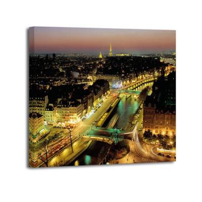 Michel Setboun - Overlooking Paris at Night