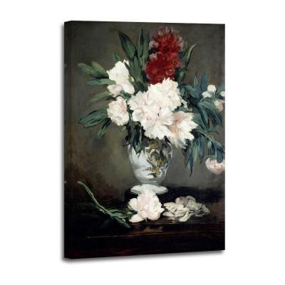 Eduard Manet - Vase de pivoines sur piedouche