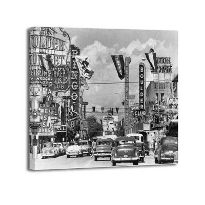 Anónimo - Casino signs along Las Vegas 1954