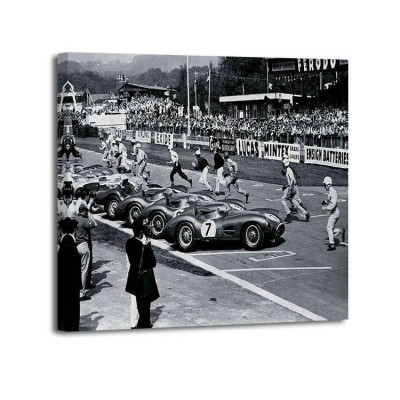 Anónimo - Drivers at the start of a race, England 1958