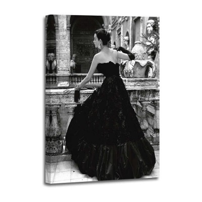 Genevieve Naylor - Black Evening dress Roma 1952