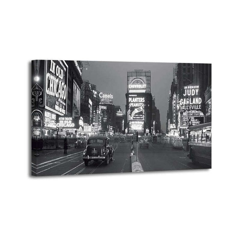 Philip Gendreau - Times square iluminated by large neon advertising signs
