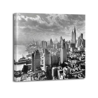 Samuel Gotscho - East River Waterfront and Manhattan 1931