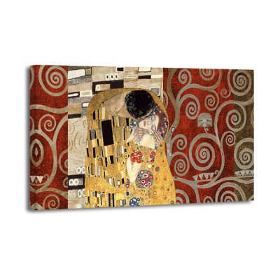 Gustav Klimt - The kiss (silver)