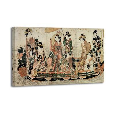 Kitagawa Utamaro - Admirer la florasion des cerisiers