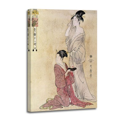 Kitagawa Utamaro - Femme a sa toilette aidee de sa servante