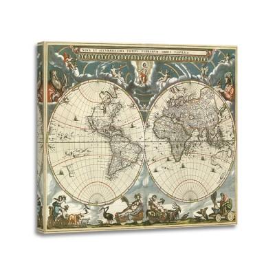 Jan Bleu - Nova et accuratissima totius terrarum orbis tabula 1664