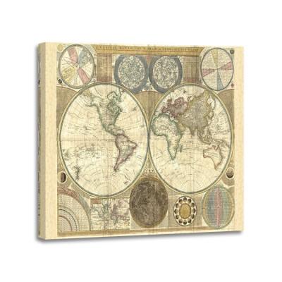 Samuel Dunn - Double hemisphere map of the world 1794